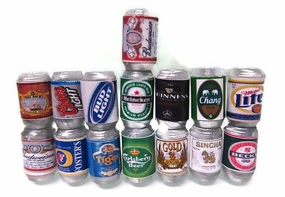 15 Mix Beers Cans Packs Dollhouse Miniature Beverage Drink