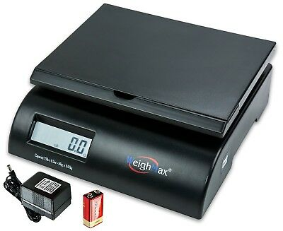 Postal Shipping Scale 75Lb Battery And AC Adapter W/Mode switching Hold Buttons