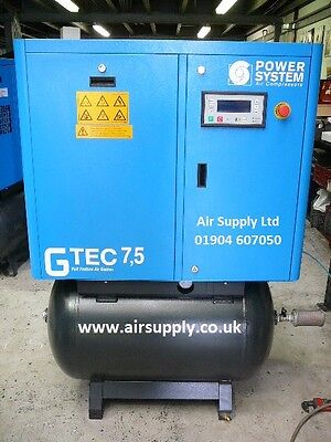 Air Compressor Screw Compressor 40 cfm with air dryer on air receiver 10hp