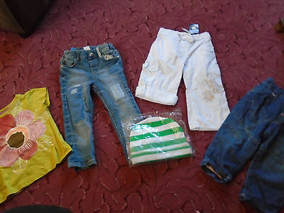 Baby Girl jeans top hat bundle 9 to 12  great condition