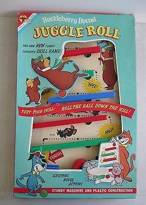 1960 Transogram Hanna Barbera Huckleberry Hound Juggle Roll Game Yogi Bear W/box