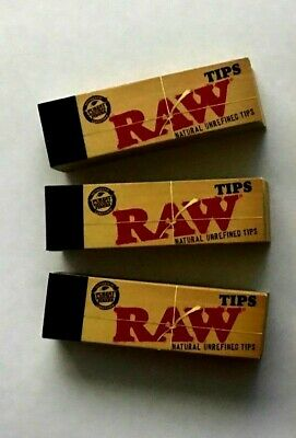 RAW TIPS NATURAL UNREFINED Filter tips / Roach Book 10.PACK