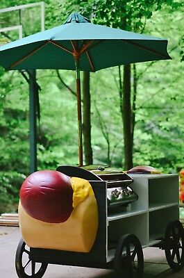 Custom Hot Dog Wagon with Gas Grill and Umbrella