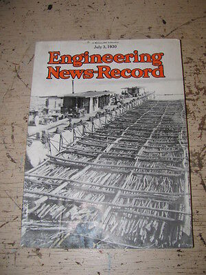 July 3 1930 Engineering News Record Construction Magazine Rogers Trailers P&h