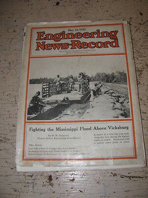 May 18 1922 Engineering News Record Construction Magazine Vulcan Locomotives