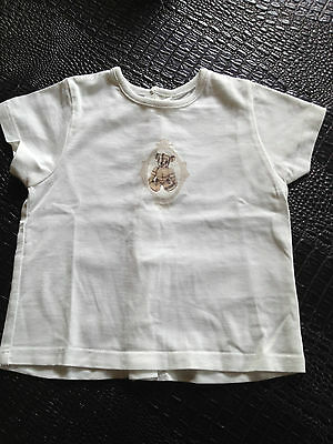 T Shirt blanc manches courtes BURBERRY / Taille 9 mois