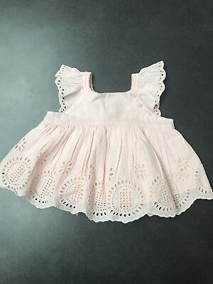 Baby Gap Pink Broderie Anglaise Dress