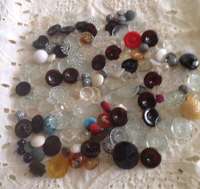 Antique Vintage Buttons Large Lot Of Glass
