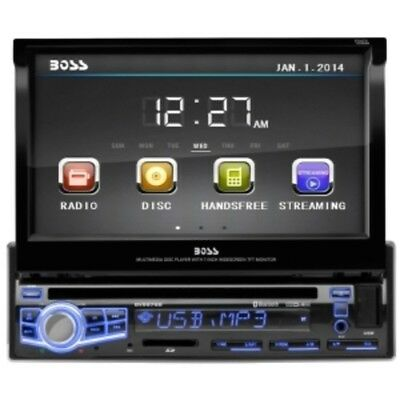 BOSS Audio 7 inch Single-Din Flip-Up DVD/MP3/CD AM/FM Receiver With Bluetooth