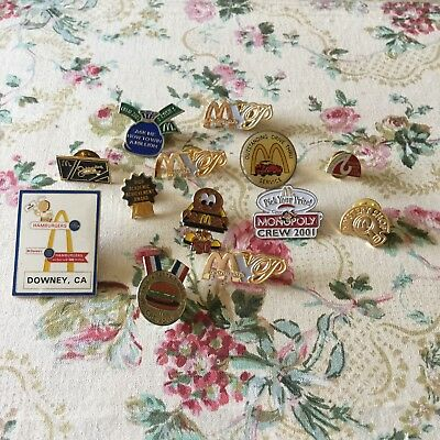 Vtg Mcdonald's Lot Of Pins