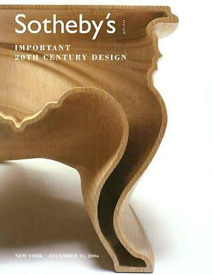 Sotheby's /// 20th C. Design Deco Art Auction Catalog 2006