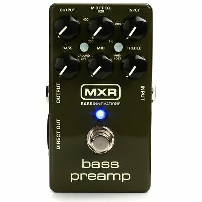 MXR M81 Bass Guitar Preamp Pedal with 3-Band EQ