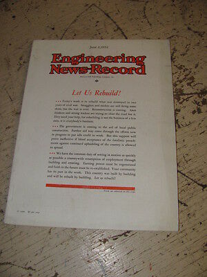 June 2 1932 Engineering News Record Construction Magazine Haiss Loaders Lorain