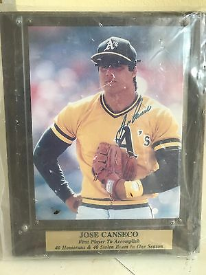 Jose Canseco Hand-Signed Plaque