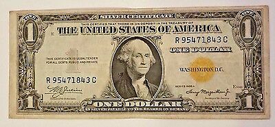 Wwii-N Africa-1935A-United States Yellow Seal $1 Silver Certificate-Rc-Dollar!