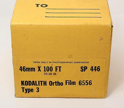 Kodak Kodalith Ortho Film, 100ft, 46mm - Spool your own 127 rolls!