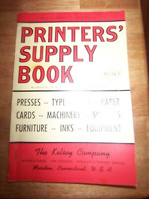 Kelsey press printer's supply book