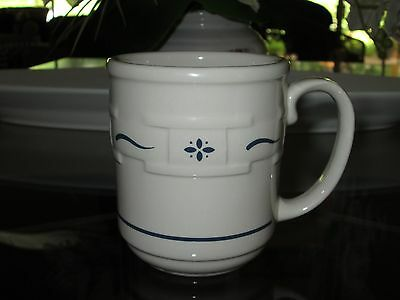 LONGABERGER ~ WOVEN TRADITIONS COFFEE MUG CUP ~PERFECT~12 oz Heritage Blue