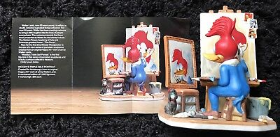 Walter Lantz WOODY WOODPECKER TRIPLE PORTRAIT Figurine '82 SIGNED, Walt & Gracie