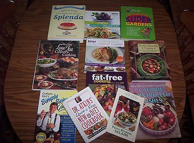 11 Cookbook Lot Splenda Atkins Healthy Cooking Fat Free Diet Supermarket Gardens