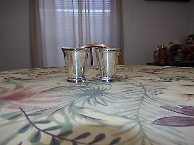 S/2 Small Silver Julep Cups 2 Set's/Boxes shown = 4 Cups