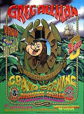 Gregg Allman Iron Butterfly Family Dog Maritime Opening small Poster Popeye Zero