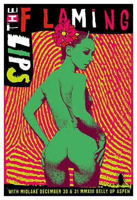 Scrojo Flaming Lips Midlake Belly Up Aspen Poster FlamingLips2_1312 New Years 13