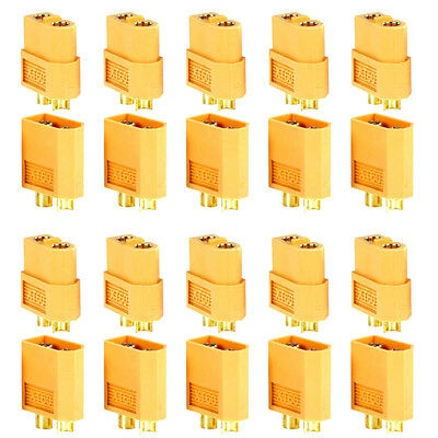 20 Pcs XT60 Male Female Bullet Connectors Plugs For RC Battery From US Warehouse