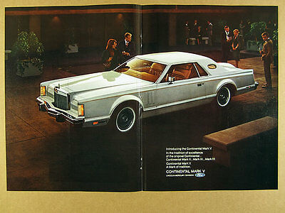 1977 Lincoln Continental Mark V Coupe color photo vintage print Ad