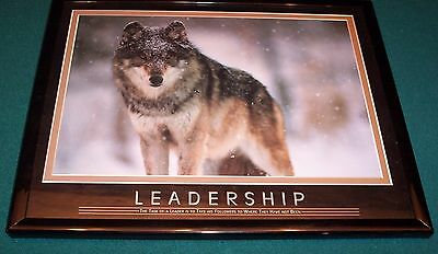 Wolf Picture  8X10 Inches Leadership Framed