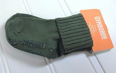 NWT Gymboree Baby Boy Size 3-12 Months Olive Green Socks  C6