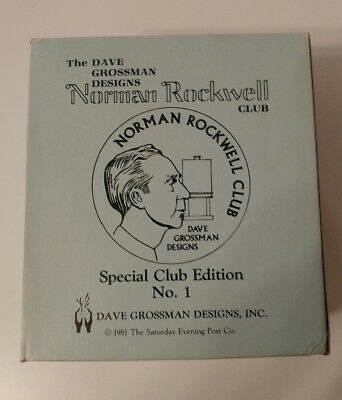 """Dave Grossman Norman Rockwell """"The Young Artist"""" Club Edition Ceramic Figurine"""