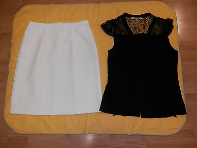 Review skirt & top/ blouse, excellent condition, sz.10