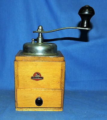 Vintage Germany Zassenhaus Wooden Coffee Grinder