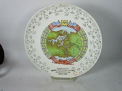 1915 Allentown PA Vintage Plate Gately & Fitzgerald Co.~ Panama Canal