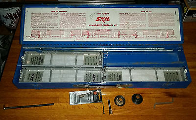 SKIL no.17070 hinge butt template kit w/metal case + 2 Jigs & Router Bits Extras