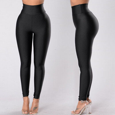 US Ship Women Yoga Fitness Leggings Gym Stretch Sports High Waist Pants Trousers