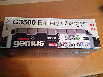 Noco Genius G3500 battery charger maintainer 6v/12v 3.5amp wet, agm, lithium ion