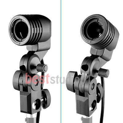 2x E27 Photography Photo Studio Light Lamp bulb Single Holder E27 Socket Bracket
