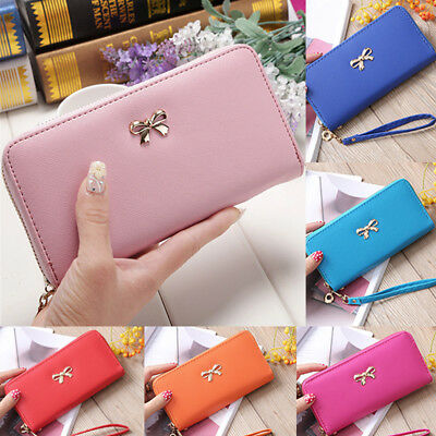 USA Fashion Women Lady PU Leather Clutch Wallet Long Card Holder Purse Handbag