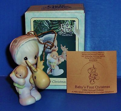 Precious Moments  Baby's First Christmas  Girl 1994 NIB