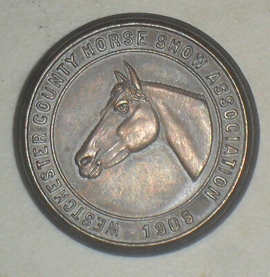 Vintage 1905 Westchester County Horse Show Association Pin Medal