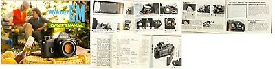 Nikon EM Camera Owners Manual 1979