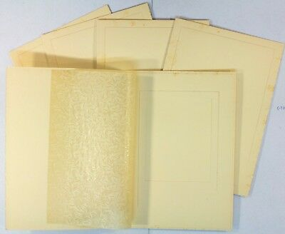 5 Original 1960's photo folder unused still has glassine fly sheets