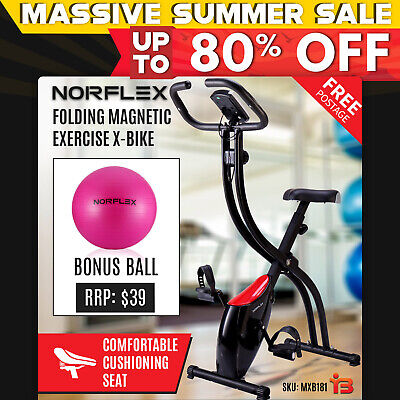 NORFLEX Folding Magnetic Exercise X-Bike Bicycle Cycling Flywheel Bike Fitness