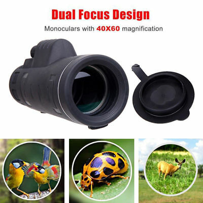HD 40X60 Optical Monocular Telescope Hunting Hiking Outdoor Day + Night Vision