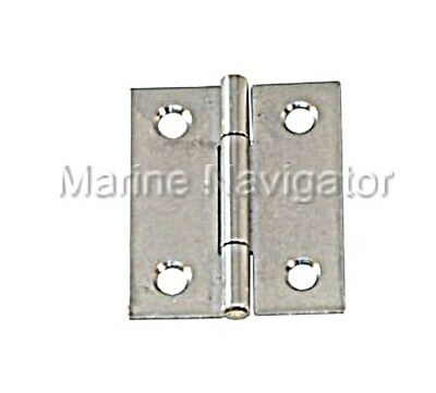 Hinge Semi Wide Stainless Steel Satin Finish 40 x 32 x 1.0mm