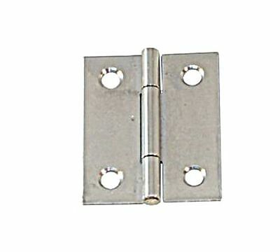 Hinge Semi Wide Stainless Steel Satin Finish 80 x 58 x 1.5mm