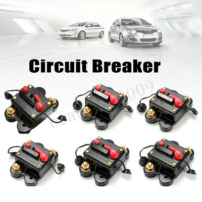 80A - 300A AMP Car Auto Marine Boat Stereo Audio Inline Circuit Breaker Fuse New
