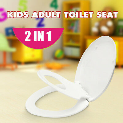 2 in 1 Kids Child Toddler Adult Family Potty Training Toilet Seat Chair Cover